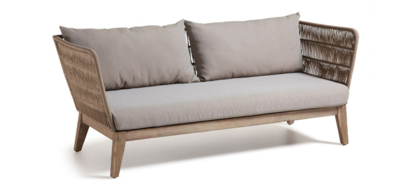 Bellano julia outdoor 3 seater sofa in brown colour.
