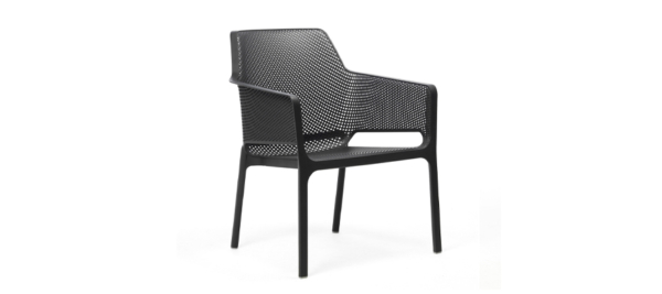 Black outdoor chair by brafab.