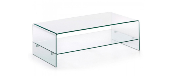 Glass coffee table for living room.