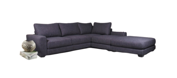 Dark grey corner sofa with great material and quality