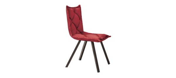 Digi one fabric red chair.