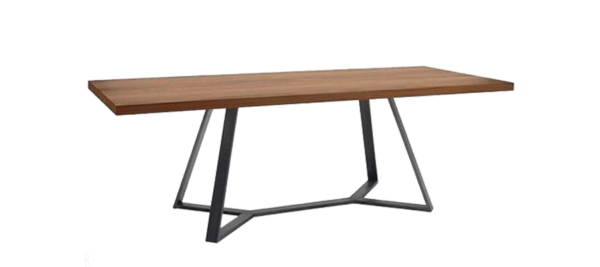 Domitalia wooden table with black legs.