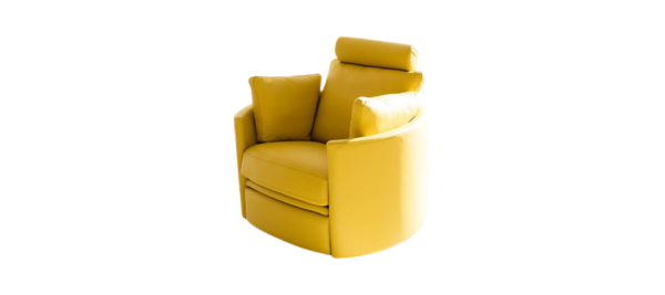 Yellow fama spain armchair with recliner.