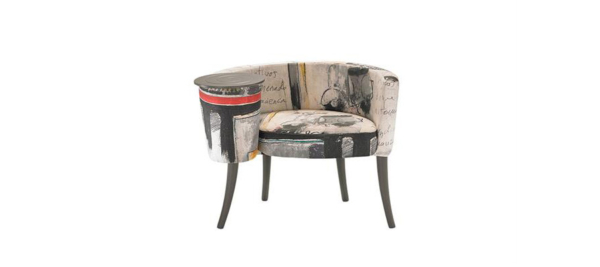 Armchair by Fama in custom styles.
