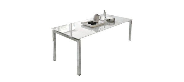 Auriga white dining table.