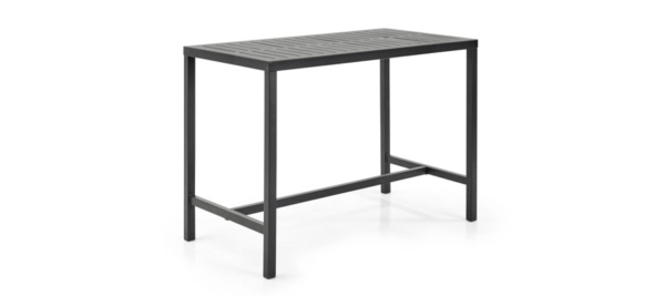 Black bar table for outdoors.
