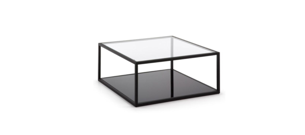 Kave home black greenhill glass coffee table.