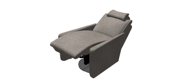 Armchair by Fama in grey colour.