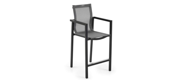 Black bar stool from Brafab.
