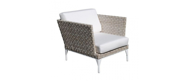 Rattan armchair for outdoors,