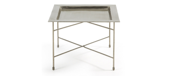 Bruce silver side table.
