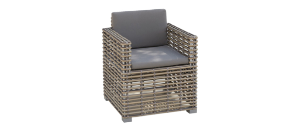 Castries rattan armchair for outdoors.