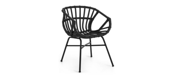 Constant chair in black colour for outdoors.