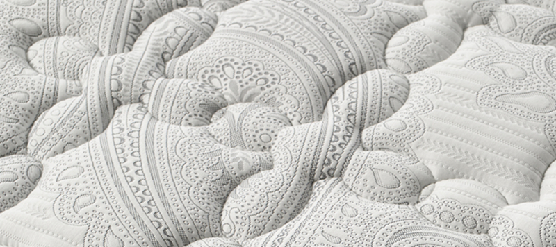 Mattress close up fabric.