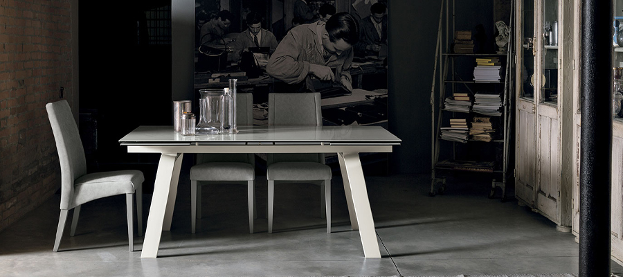 marte dining table  clear glass  limassol furniture shop