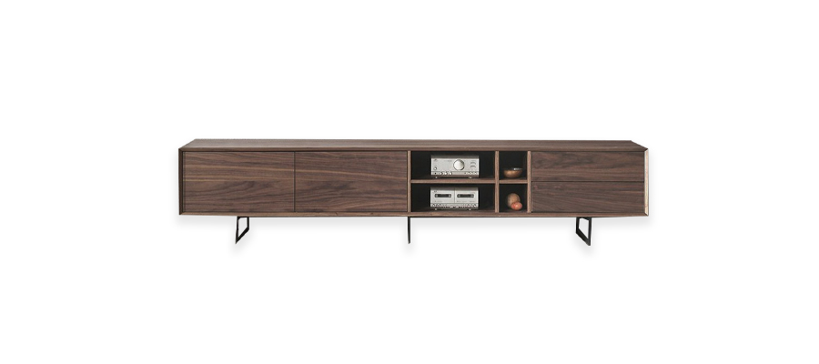 Tv stand by dupen brown wooden.
