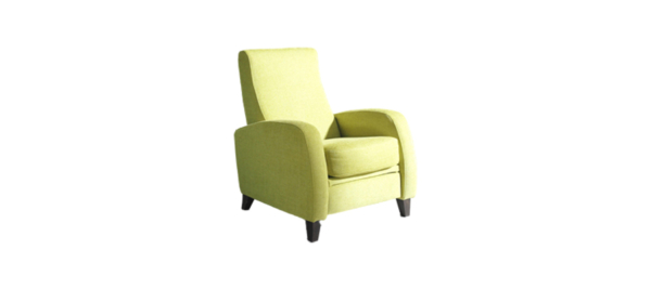 Fama spain fabric feet stand living room armchair.