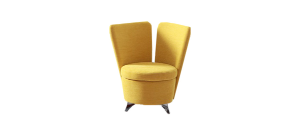 Yellow armchair by Fama Spain.