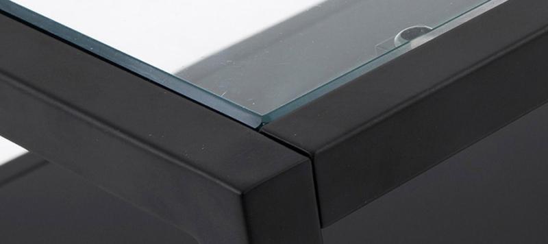 metallic table.