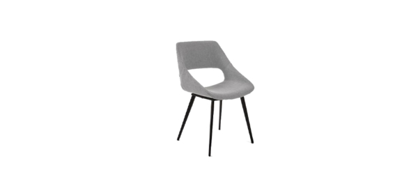 Grey office dining kitchen chair.