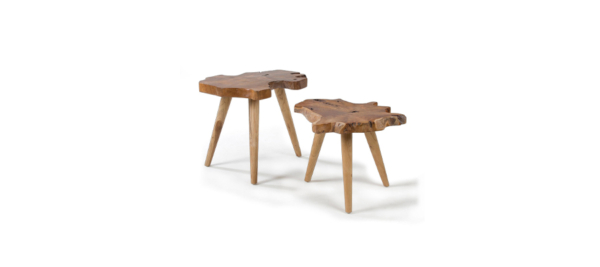 Set of wooden tables.