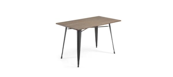 Malibu liverta dining table black base wooden top.