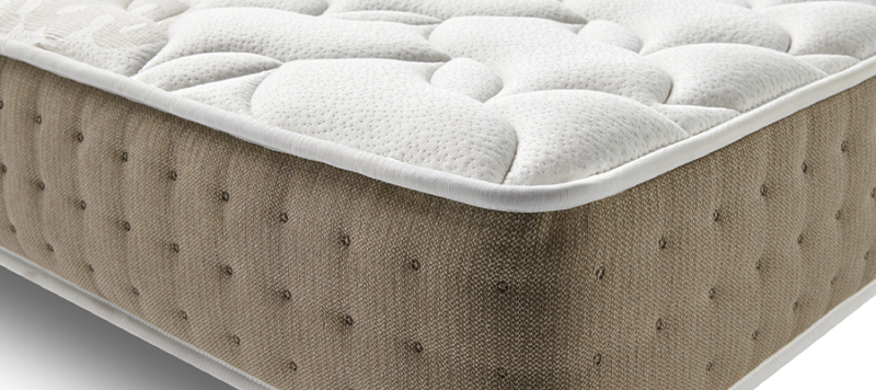 side view of quality mattress.
