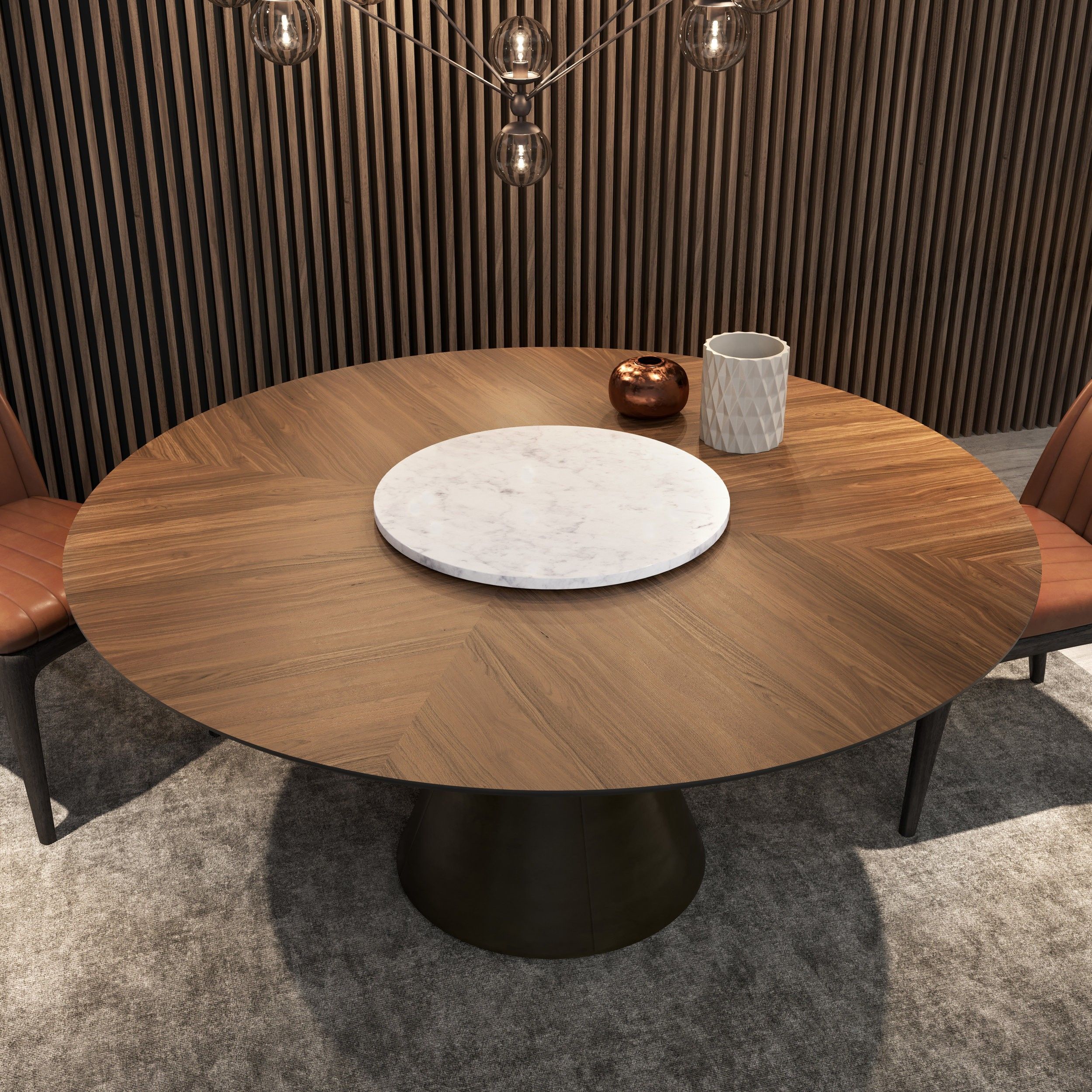 ring round dining table  andreotti furniture