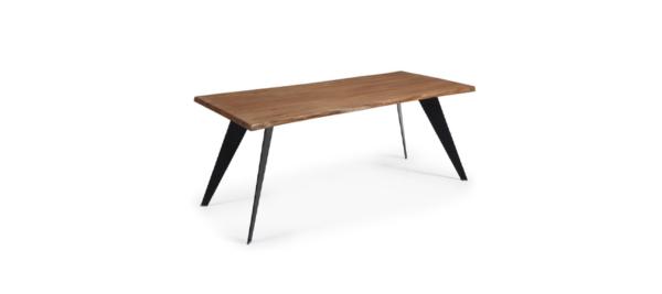 Nack wooden black base dining table.