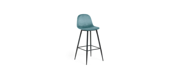 Turquoise bar stool.