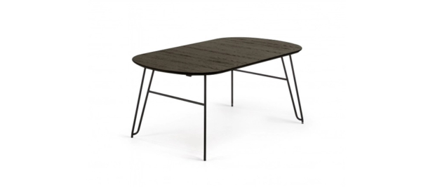 Black dining table.