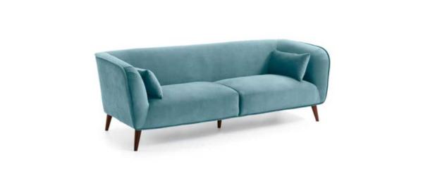 Turquoise colour sofa by julia grup.