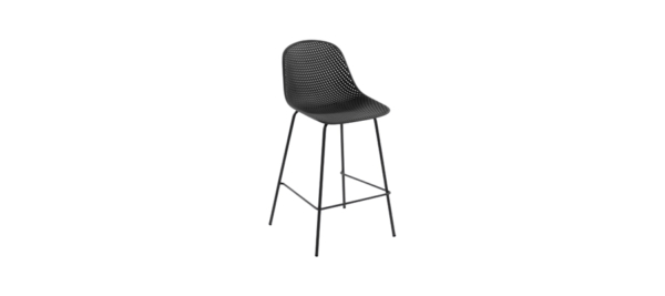 Quirby Bar Stools by Julia Group plastic silver.