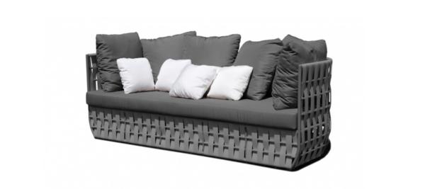 Grey sofa 3 seater outdoor.