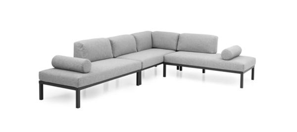Gonesse Corner Sofa grey colour custom made.