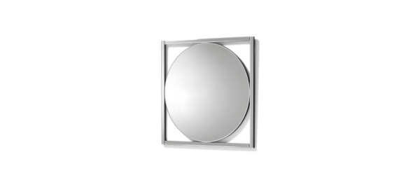 Square glass wood mirror by liberta.