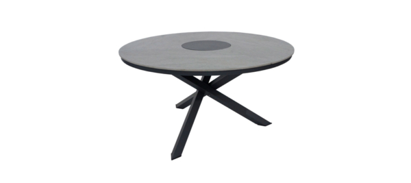 Round table for your outdoors in black UV protected/
