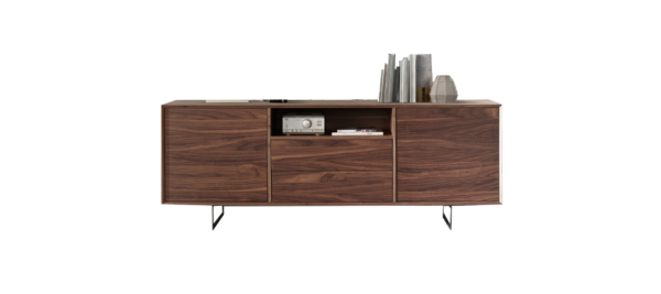 Wooden walnut tv stand sideboard by dupen.