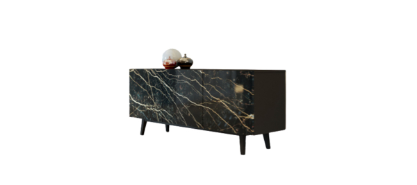 Domitalia sideboard in wood and ceramic doors.