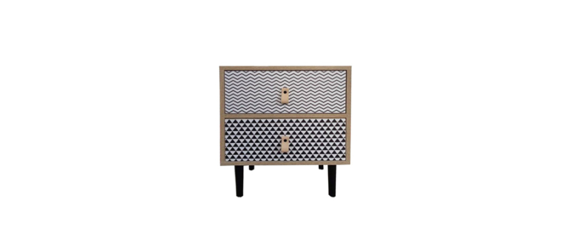 front view of side table by liberta.