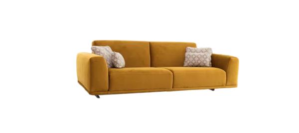 Yellow sofa by Fama Spain.