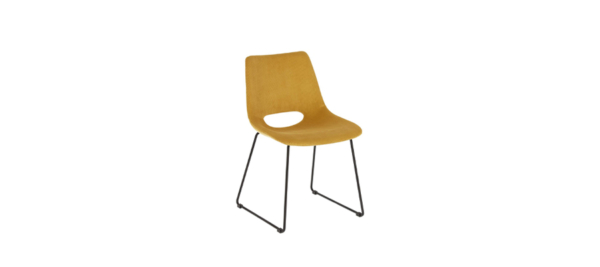 Yellow fabric Julia Grup Chair.