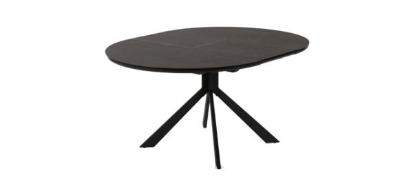 Haydee black ceramic dining table.