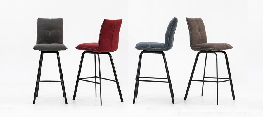 indira fabric barstool  andreotti furniture cyprus