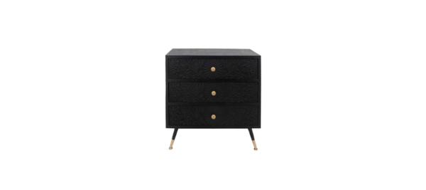 Margaret black side console drawer.