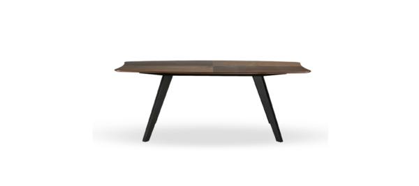 Marckeric high quality black legs walnut top dining table.