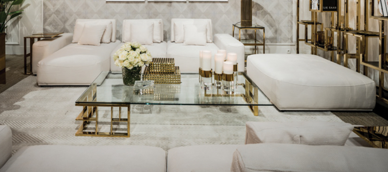 Elegant furniture in living room.