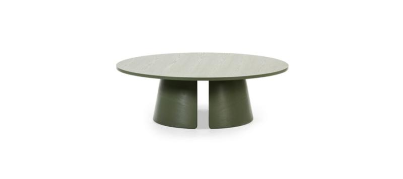 Green coffee table.