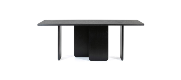 Black top quality ash dining table.