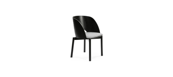 Teulat high quality black wooden armchair dining.